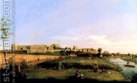 Windsor Castle by (Giovanni Antonio Canal) Canaletto - Reproduction Oil Painting