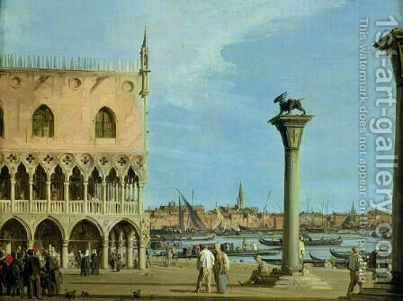 The Piazzetta di San Marco Looking South, Venice by (Giovanni Antonio Canal) Canaletto - Reproduction Oil Painting