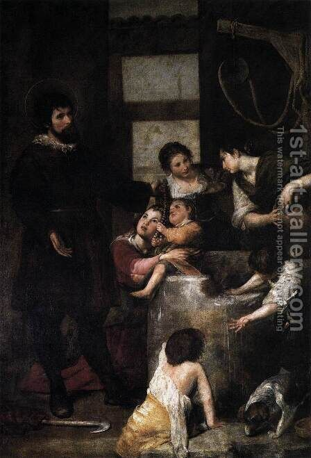 St. Isidore saves a child that had fallen in a well, 1646-48 by Alonso Cano - Reproduction Oil Painting