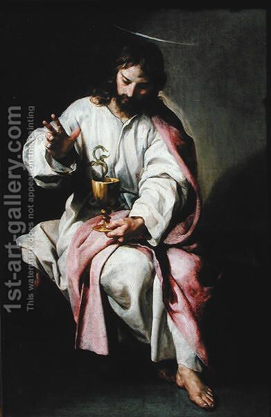 St. John the Evangelist and the Poisoned Cup, 1636-38 by Alonso Cano - Reproduction Oil Painting