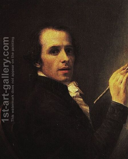 Self Portrait, 1790 by Antonio Canova - Reproduction Oil Painting