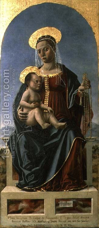 Madonna and Child by Cristoforo da Lendinara Canozzi - Reproduction Oil Painting