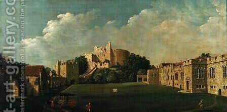Arundel Castle Keep and Quadrangle, c.1770 by James Canter - Reproduction Oil Painting