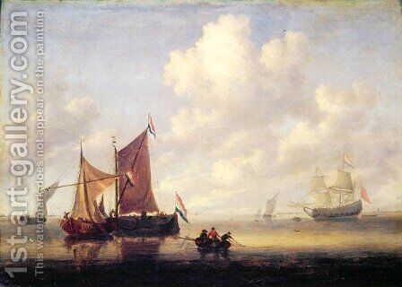 Seascape by Jan Van De Capelle - Reproduction Oil Painting