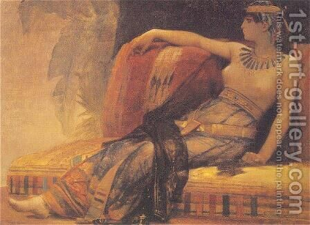 Cleopatra (69-30 BC), preparatory study for 'Cleopatra Testing Poisons on the Condemned Prisoners' by Alexandre Cabanel - Reproduction Oil Painting