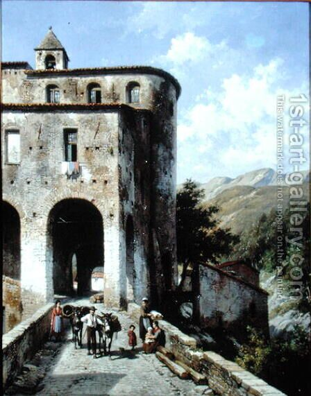 Church of San Spirito by Jacques Carabain - Reproduction Oil Painting