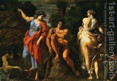 Hercules at the Crossroads by Annibale Carracci - Reproduction Oil Painting