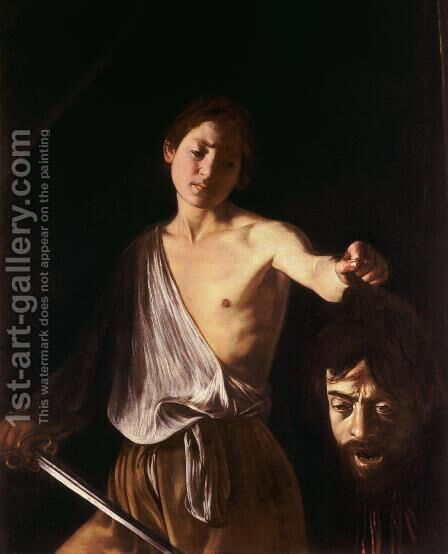 David with the Head of Goliath by Caravaggio - Reproduction Oil Painting