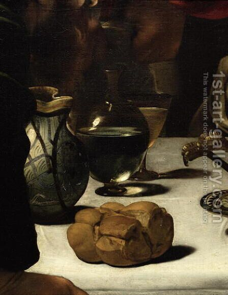 The Supper at Emmaus, 1601 (detail-3) by Caravaggio - Reproduction Oil Painting