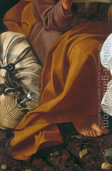 Rest during the flight into Egypt (detail-1) by Caravaggio - Reproduction Oil Painting