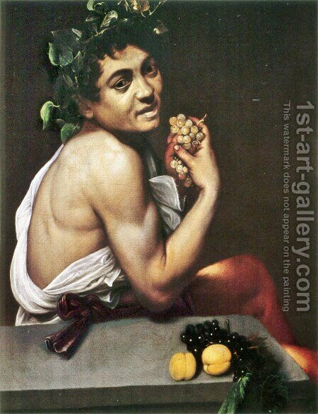 The Sick Bacchus, 1591 by Caravaggio - Reproduction Oil Painting