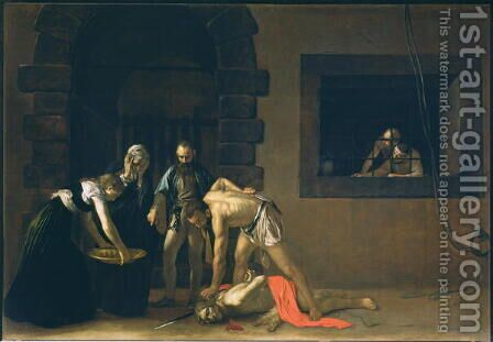 The Decapitation of St. John the Baptist, 1608 by Caravaggio - Reproduction Oil Painting