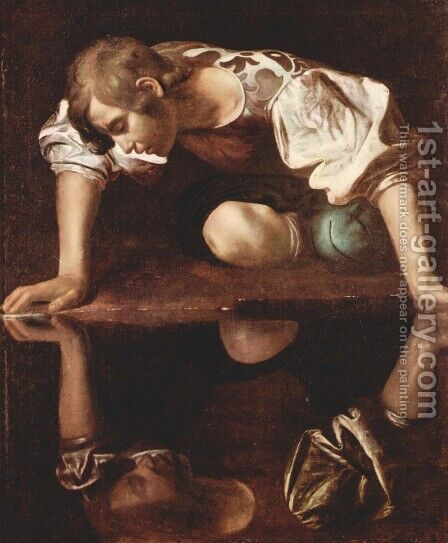 Narcissus, c.1597-99 by Caravaggio - Reproduction Oil Painting