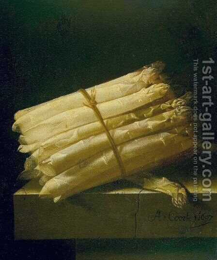 Asparagus by Adriaen Coorte - Reproduction Oil Painting