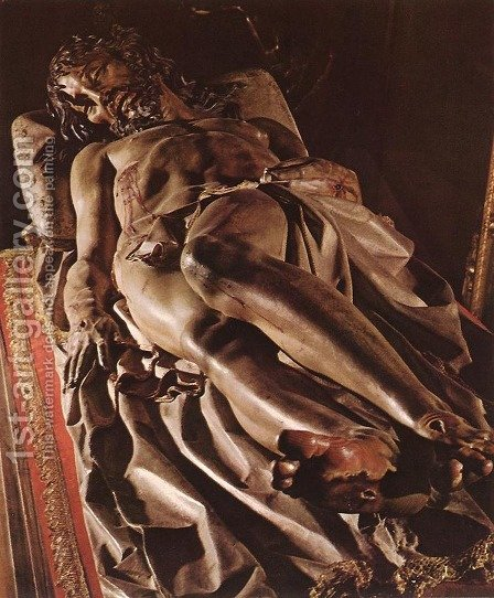 The Dead Christ by Gregorio Fernandez - Reproduction Oil Painting