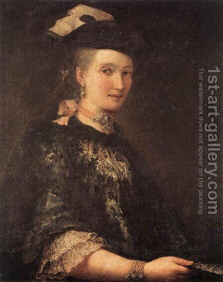 Portrait of a Lady by Alessandro Longhi - Reproduction Oil Painting