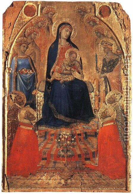 Small Maestà by Ambrogio Lorenzetti - Reproduction Oil Painting