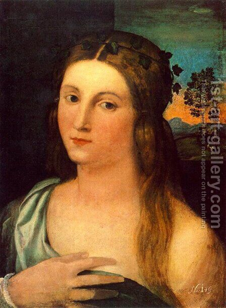 Portrait of a Young Woman by Jacopo d'Antonio Negretti (see Palma Vecchio) - Reproduction Oil Painting