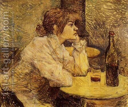 Hangover (or The Drinker) by Toulouse-Lautrec - Reproduction Oil Painting