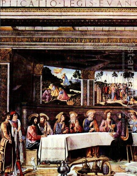 The Last Supper by Cosimo Rosselli - Reproduction Oil Painting