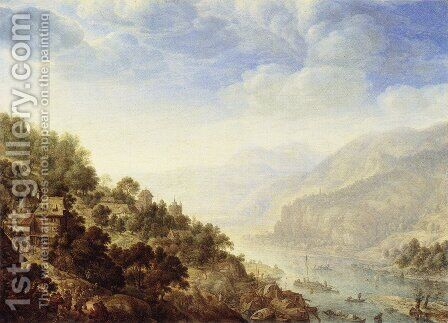 View of the Rhine by Herman Saftleven - Reproduction Oil Painting