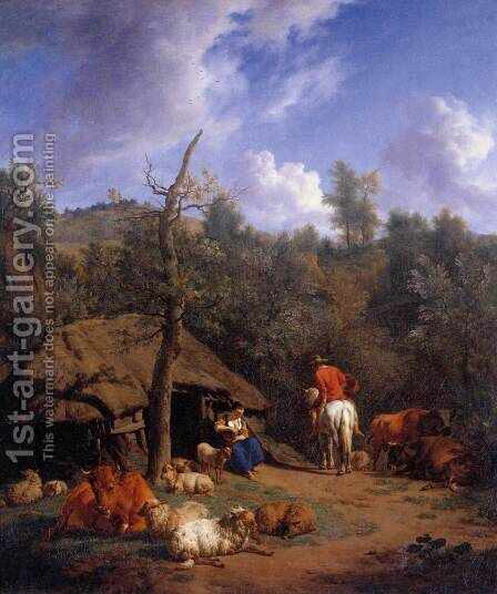 The Hut by Adriaen Van De Velde - Reproduction Oil Painting