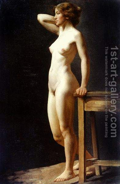 Female Nude by Charles H. Freeth - Reproduction Oil Painting