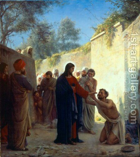 Christ Healing by Carl Heinrich Bloch - Reproduction Oil Painting