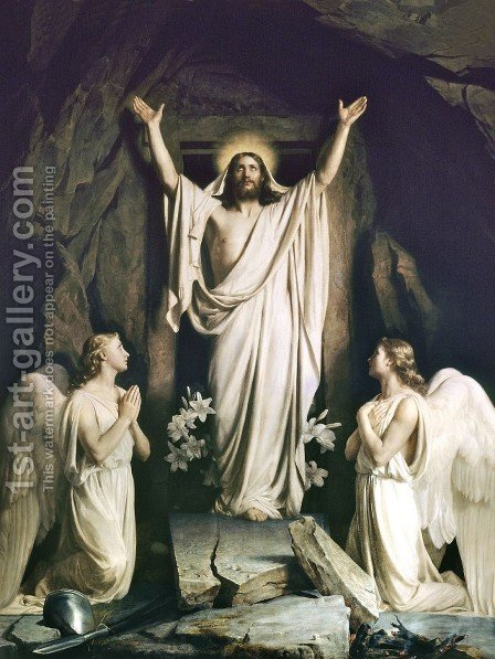 Resurrection of Christ by Carl Heinrich Bloch - Reproduction Oil Painting
