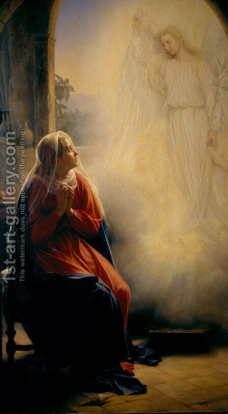 The Annunciation by Carl Heinrich Bloch - Reproduction Oil Painting