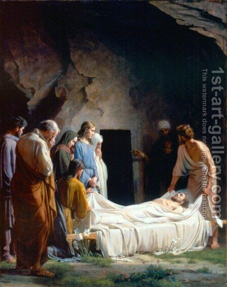 The Burial of Christ by Carl Heinrich Bloch - Reproduction Oil Painting