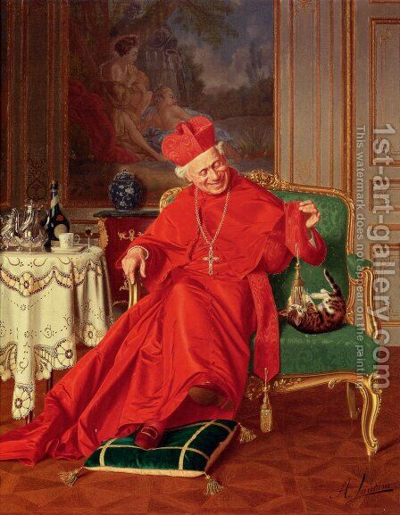 His Eminence's Friend by Andrea Landini - Reproduction Oil Painting
