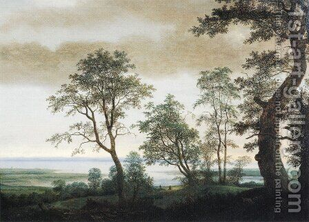 Landscape with Estuary by Cornelis Hendricksz. The Younger Vroom - Reproduction Oil Painting