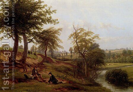 The Leam, Near Weston Mill by Hendrikus van den Sande Bakhuyzen - Reproduction Oil Painting
