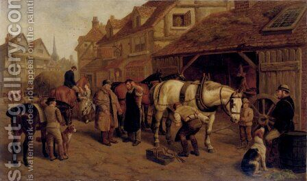 The Farrier by Edward Benjamin Herberte - Reproduction Oil Painting