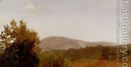 A Panoramic Landscape View by Giovanni-Battista Camuccini - Reproduction Oil Painting