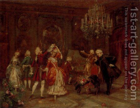 A Musical Soiree by Giuseppe Brugo - Reproduction Oil Painting
