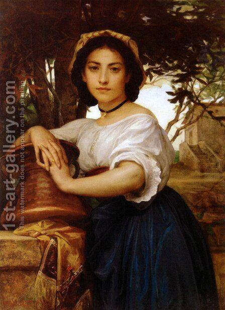 Young Roman Water Carrier by Diogene Ulyssee Napoleon Maillart - Reproduction Oil Painting