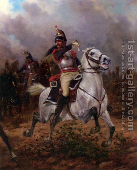 Leading the Charge by Charles Louis Kratke - Reproduction Oil Painting