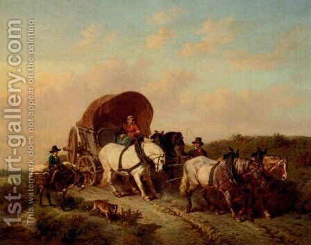 The Unwilling Traveller by Charles Philogene Tschaggeny - Reproduction Oil Painting