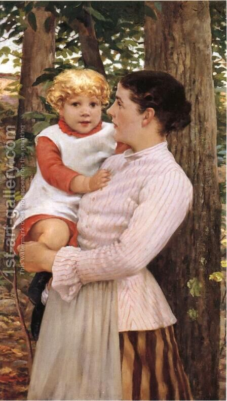 Mother and Child by James Carroll Beckwith - Reproduction Oil Painting