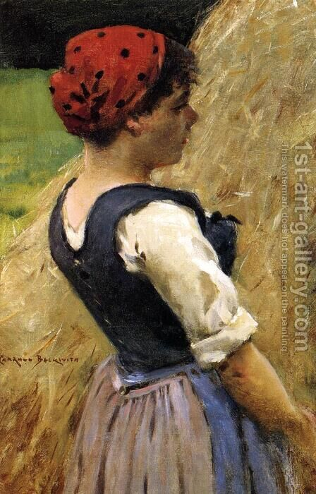 Normandy Girl by James Carroll Beckwith - Reproduction Oil Painting
