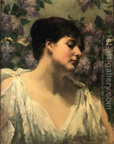 Under the Lilacs by James Carroll Beckwith - Reproduction Oil Painting