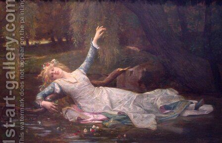 Ophelia by Alexandre Cabanel - Reproduction Oil Painting