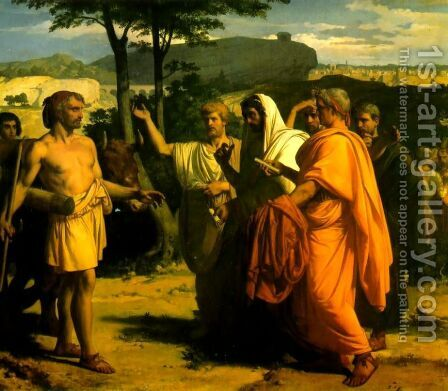 Cincinnatus Receiving Deputies of the Senate by Alexandre Cabanel - Reproduction Oil Painting