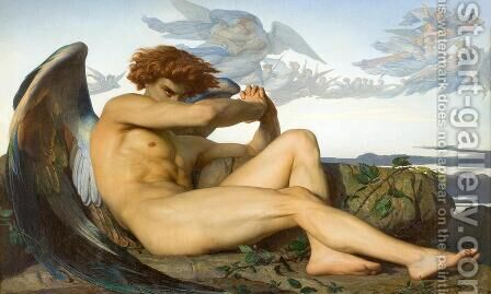 Fallen Angel by Alexandre Cabanel - Reproduction Oil Painting