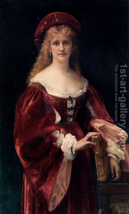 Patricienne de Venise by Alexandre Cabanel - Reproduction Oil Painting