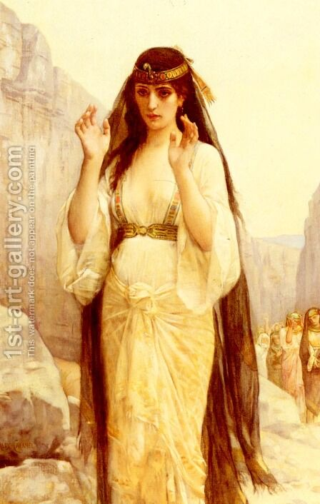 The Daughter Of Jephthah by Alexandre Cabanel - Reproduction Oil Painting
