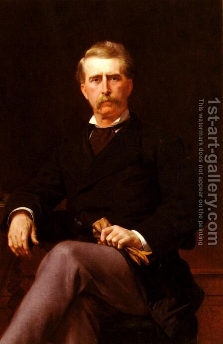Portrait de John William Mackay (1831-1902) (Portrait of John William Mackay (1831-1902)) by Alexandre Cabanel - Reproduction Oil Painting