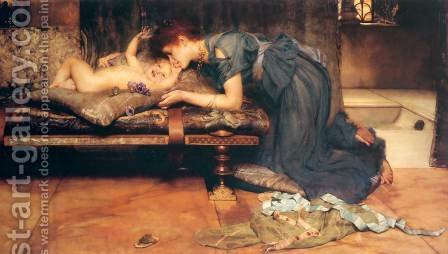 An Earthly Paradise by Sir Lawrence Alma-Tadema - Reproduction Oil Painting